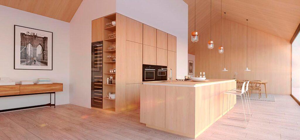 interiores minimalistas con madera