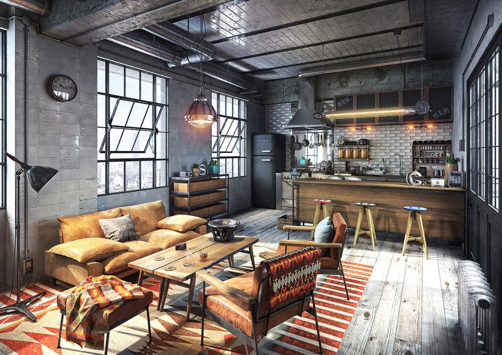 decoracion interiores estilo-industrial interiorismo