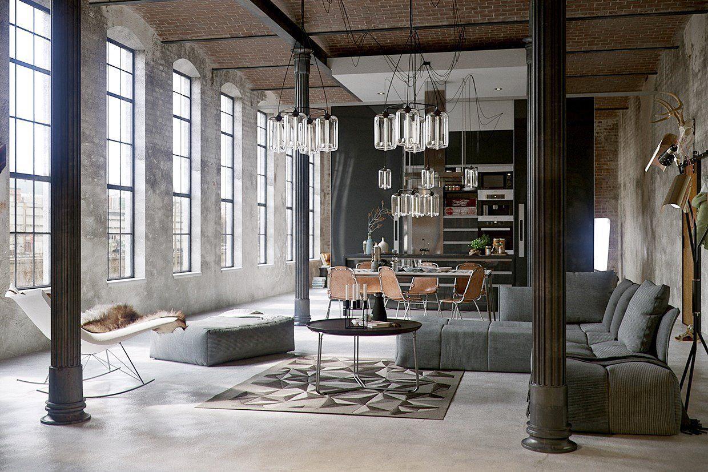 decoracion interiores estilo-industrial-interiorismo loft mexico